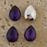 Amethyst Jewel - 15x11mm. Pear Faceted Gem Jewels - Lots of 144