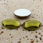 Olivine Jewel Faceted - 14x10mm. Oval Cabochons - Lots of 144