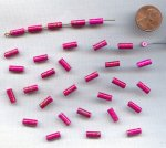 PINK GOLD DRIZZLE 10x4mm. TUBE BEADS - Lots of 24