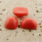 Coral Opaque - 15x11.5mm. Rectangle Cabochons - Lots of 144