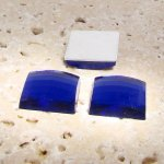 Sapphire Jewel Faceted - 25mm. Square Cabochons - Lots of 72