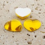 Jonquil Jewel Smooth - 18mm. Heart Domed Cabochons - Lots of 144