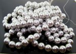 GREY 12MM ROUND SMOOTH JAPANESE PEARLS - Lot of 63