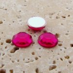 Fuchsia Jewel Faceted - 7mm. Round Cabochons - Lots of 144