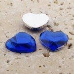 Sapphire Jewel Faceted - 18mm. Heart Cabochons - Lots of 144