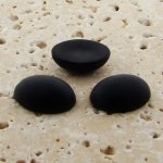 Jet Matte Frosted - 8x6mm. Oval Domed Cabochons - Lots of 144