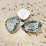 Black Diamond - 25x18mm. Pear Faceted Gem Jewels - Lots of 72