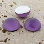 Light Amethyst Matte - 13mm. Round Domed Cabochons - Lots of 144