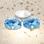 Light Sapphire - 25x18mm. Oval Faceted Gem Jewels - Lots of 72