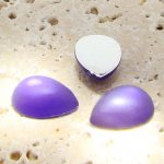 Purple Matte Frosted - 13x8.5mm. Pear Cabochons - Lots of 144