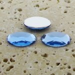 Light Sapphire Faceted - 14x10mm. Oval Cabochons - Lots of 144