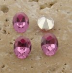 Rose Jewel - 8x6mm. Oval Faceted Gem Jewels - Lots of 144