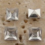 Crystal Jewel - 6x6mm. Square Faceted Gem Jewels - Lots of 144