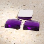 Amethyst Jewel Faceted - 25mm. Square Cabochons - Lots of 72
