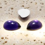 Amethyst Jewel - 25x18mm. Pear Domed Cabochons - Lots of 72