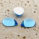 Light Sapphire Jewel - 25x18mm. Pear Cabochons - Lots of 72