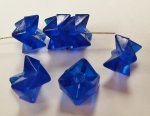 SAPPHIRE 9x10mm. FACETED ZIG ZAG STACKABLE BEADS - Lots of 12