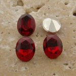 Ruby Jewel - 8x6mm. Oval Faceted Gem Jewels - Lots of 144
