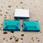 Blue Zircon Jewel Faceted - 15mm. Square Cabochons - Lots of 144