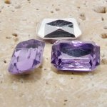 Light Amethyst - 25x18mm Octagon Faceted Gem Jewels - Lots of 72