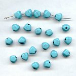 TURQUOISE MATRIX 8MM FACETED ROUND BEADS - Lot of 12