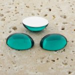 Teal Jewel - 12x10mm. Oval Domed Cabochons - Lots of 144