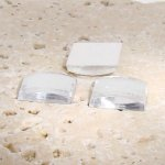 Crystal Jewel Faceted - 25mm. Square Cabochons - Lots of 72