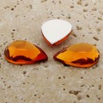 Madeira Topaz Faceted - 13x8.5mm. Pear Cabochons - Lots of 144