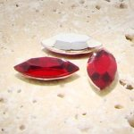 Ruby Jewel - 15x7mm. Navette Faceted Gem Jewels - Lots of 144