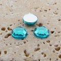 Aqua Jewel Faceted - 6mm. Round Cabochons - Lots of 144