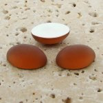 Topaz Matte Frosted - 8x6mm. Oval Domed Cabochons - Lots of 144