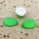 Peridot Matte Frosted - 18x13mm. Pear Cabochons - Lots of 144