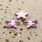 Rose Jewel Faceted - 15mm. Star Domed Cabochons - Lots of 144
