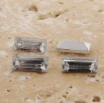 Crystal Jewel - 7x3mm Rectangle Baguette Gem Jewel - Lots of 144