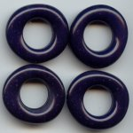 NAVY BLUE 28MM DONUT UNIQUE BEADS - Lot of 12