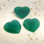 Jade Opaque Smooth - 18mm. Heart Domed Cabochons - Lots of 144