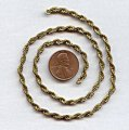 ROPE BRASS 3MM. VINTAGE CHAIN - PRICED PER FOOT