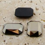 Hematite Faceted - 40x30mm. Octagon Domed Cabochons - Lots of 12