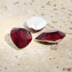 Ruby Jewel - 25x18mm. Pear Faceted Gem Jewels - Lots of 72