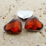 Topaz Jewel - 18mm. Heart Faceted Gem Jewels - Lots of 144