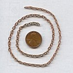CABLE COPPER COATED 4mm. VINTAGE CHAIN - PRICE PER FOOT