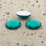 Teal Jewel Multi Faceted - 18mm Round Cabochons - Lots of 144