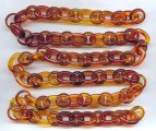 "Tortoise Amber Round & Oval 18mm. Link Cable Chain - 39"" per Lot"
