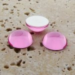 Rose Jewel - 25mm. Round Domed Cabochons - Lots of 72
