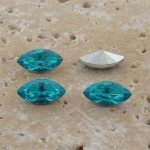 Aqua Jewel - 10x5mm Navette Faceted Gem Jewel- Lot of 144