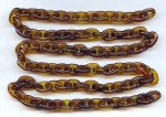 "Tortoise Brown Plastic Oval 14mm. Link Cable Chain - 39"" per Lot"