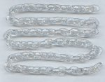 "Crystal Plastic Oval 14mm. Link Cable Chain - 39"" per Lot"