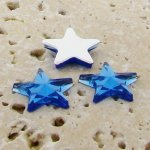 Sapphire Jewel Faceted - 15mm. Star Cabochons - Lots of 144