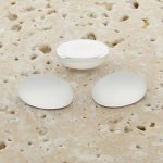 Crystal Matte Frosted - 10x8mm. Oval Cabochons - Lots of 144