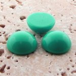 Sea Green Turquoise Opaque-11mm Round Domed Cabochon-Lot of 144